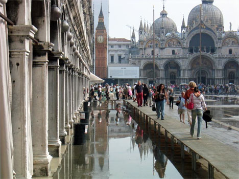 Venice Square Flooded
