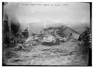 Austin/Dam Flood, wreck of School House (LOC)