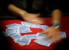 Poker Texas Hold'em : Shuffling Cards On The Board