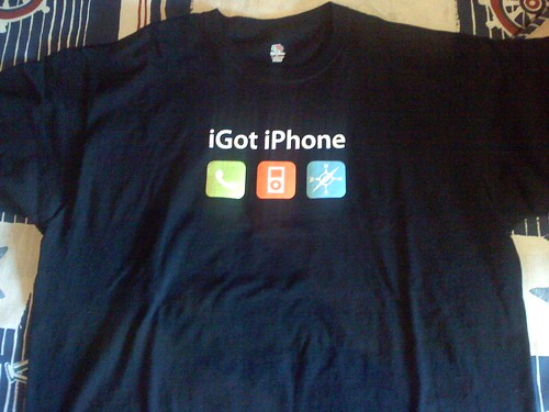 iPhone launch shirt