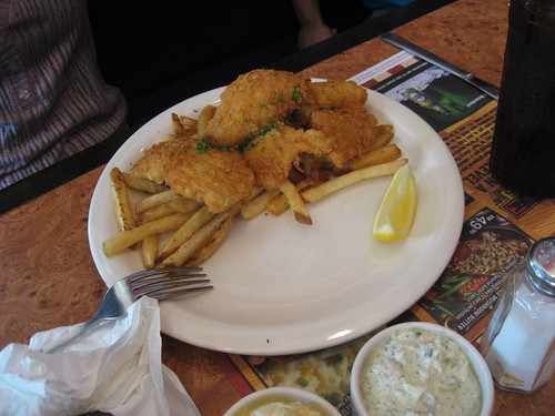 Fish N Chips (Dips removed from plate)
