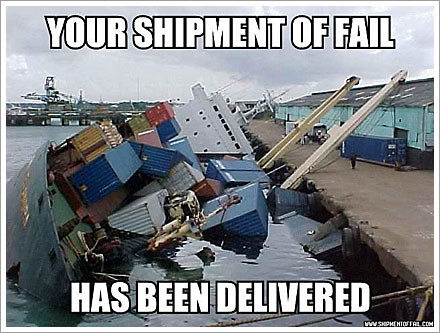 shipment of fail