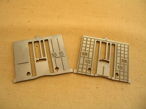 Two needle plates