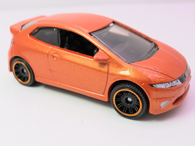 matchbox '08 honda civic type r orange (2)