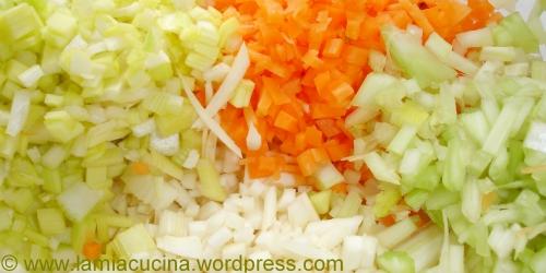 Gemüse-mirepoix