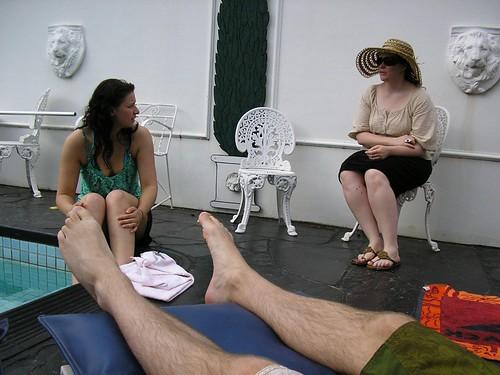 Garreth's legs, Liby, Lenore.