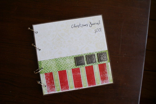 Christmas Journal Front cover