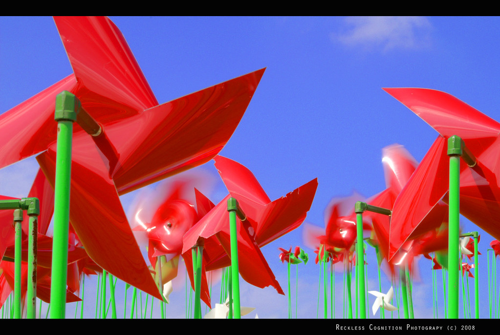 Red Pinwheels at the DMZ