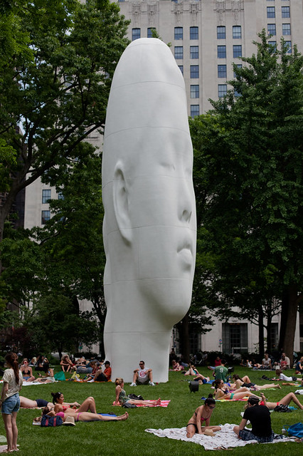 jaume plensa - echo in madison square park new york city