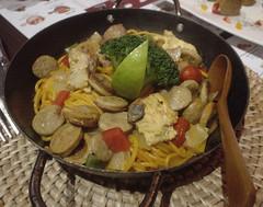[吃] 酷食多西珧??餐坊 (08)_傳統西珧??什錦臘腸麵