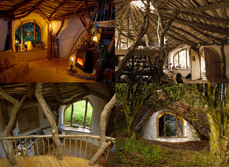 Green Roofed Hobbit Hole Interior