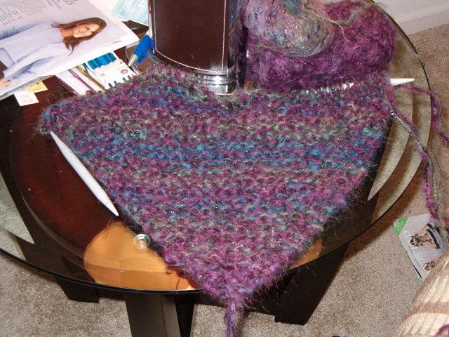 Garter stitch shawl 1