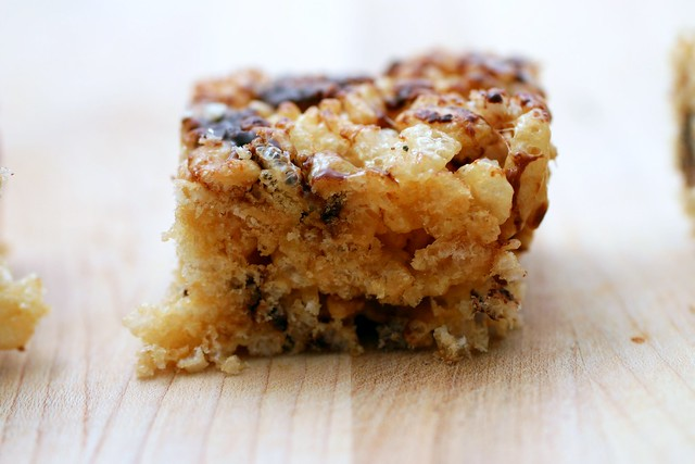 caramelized brown butter rice krispie treats