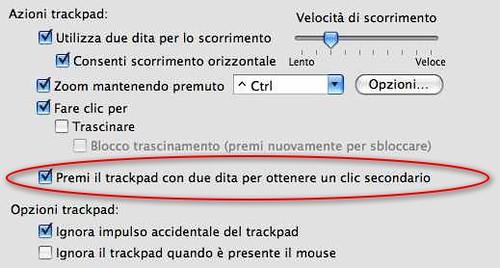 Doppio Tap con Click su un Macbook Pro