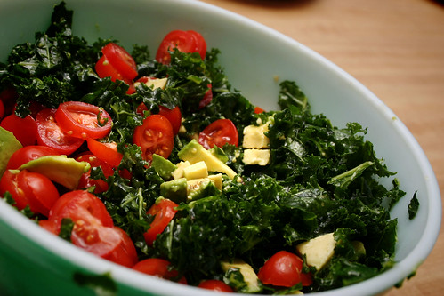 Raw kale avocado salad happy foody kale is an amazing food you should eat lots and lots and lots of it weve been eating it daily herein the form of juice smoothies and salads forumfinder Images
