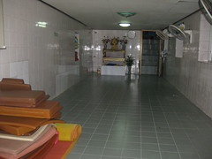 79. The basement of the Wat Mahathat where we sat meditating with 2 UK guys for 1.5 hour after the monk left us there
