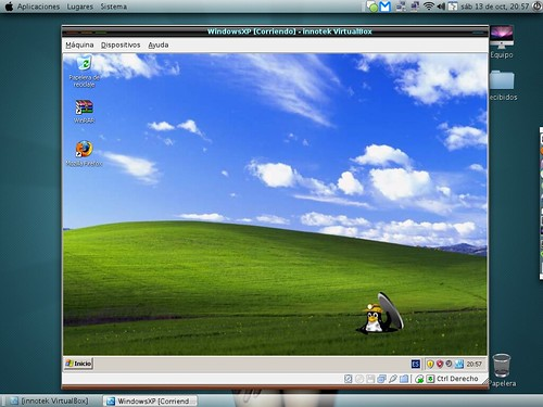 Virtualbox tux wallpaper preview