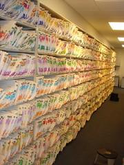 Massive Wall of Organized Documents