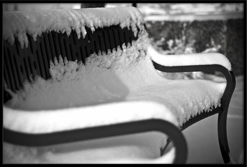 Snowy Bench 2