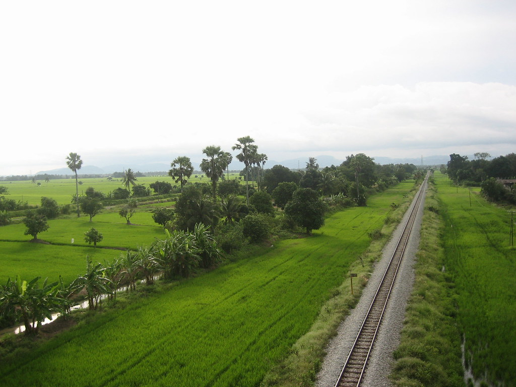 Single track meter gauge KTM railway in Perlis - image from Skyscrapercity.com
