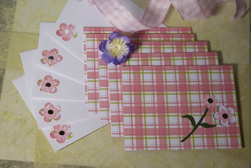 Pink Note Card Set