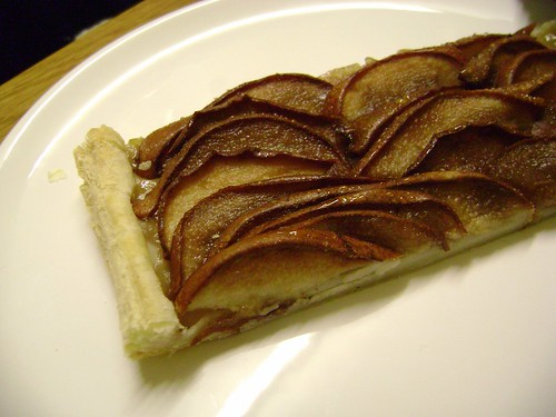 Eating Pear Tart