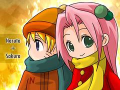 Sakura y Naruto Chibis by GamiKun