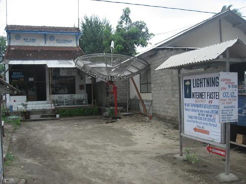 Lightning fast internet cafe on Gili Trawangan, Indonesia