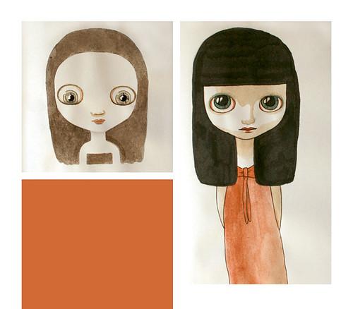 Illustration de Laure Pointereau - Dolls