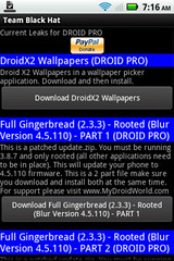 GingerBread for Droid Pro
