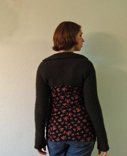* English Garden shrug - its a lovely crocheted one!