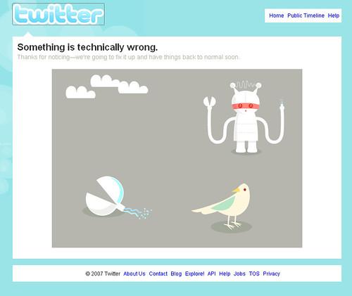 Twitter Technical Error 0108