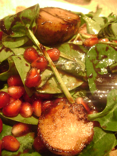 Lamb Sweetbreads with Pomegranate and Spinach
