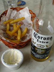 fries and corona