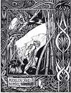 Aubrey Beardsley. Merlin and Nimue.  Le Morte d'Arthur.