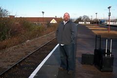 Scott at the Stratford-upon-Avon Train Station