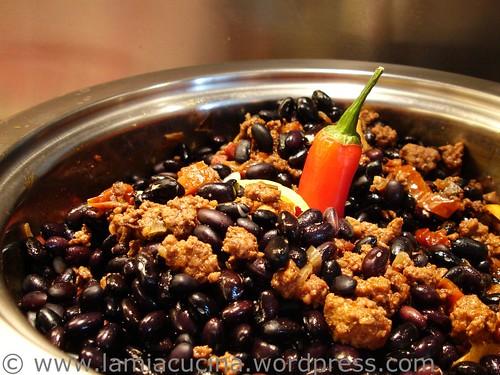 Chili con carne nach Bohnenzugabe