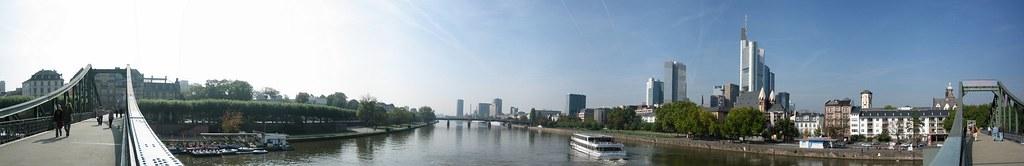 Frankfurt panorama from Eiserner Steg