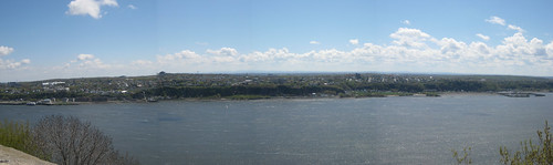 view from the highest natural spot in Québec City