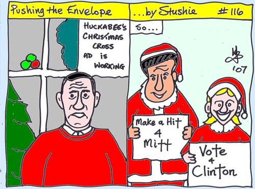 Huckabee, Romney & Clinton