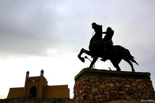 Istarafshan Castle Statue