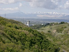 Looking at Utah State Capital from BST