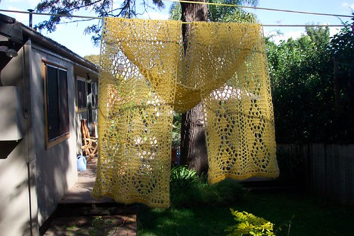 Yellow Lace Scarf