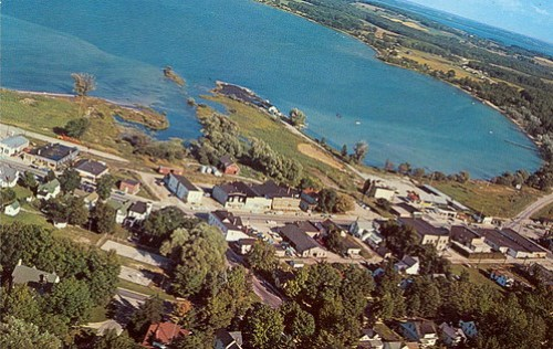 Suttons Bay Aerial before Harbor by UpNorth Memories - Don Harrison