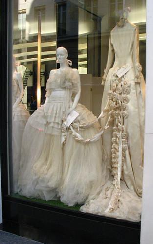 1994 channel wedding dresses in paris channel window