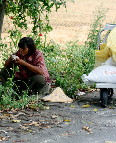 eating by the side of the road