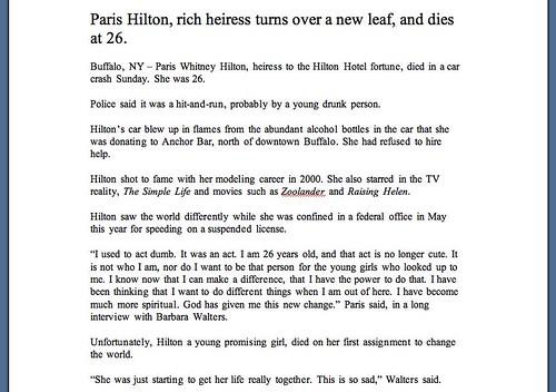 2007-11-28 paris hilton obituary