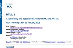 HTML 5 just released its first public working draft