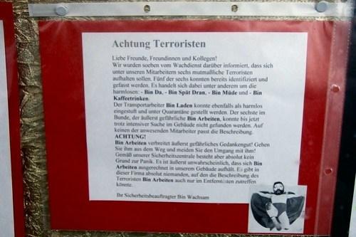 Beware of Terrorists
