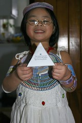 Olivia with Egyptian Pyramid